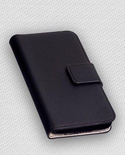 Premium-Book-Style-Flip-Handy-Case-Tasche-Etui-Cover-schwarz-fuer-diverse-Handys